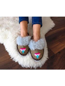 Leather Sheepskin Slippers Women Moccasins Boots Brown Comfortable Indor Shoes Shearling Footwear Fur Warm Winter Boots Light Comfy Gift by Etsy