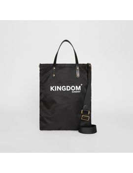 Kingdom Print Nylon Tote by Burberry