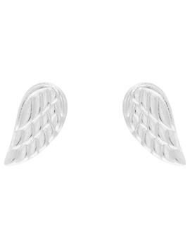 Sterling Silver Angel Wing Stud Earrings by Accessorize