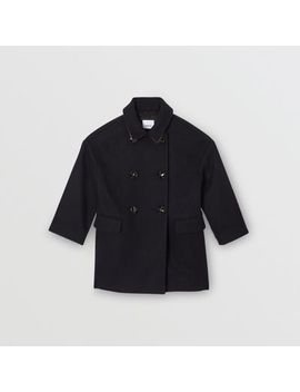 Wool Tailored Pea Coat by Burberry