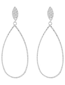 Sterling Silver Hammered Teardrop Earrings by Accessorize