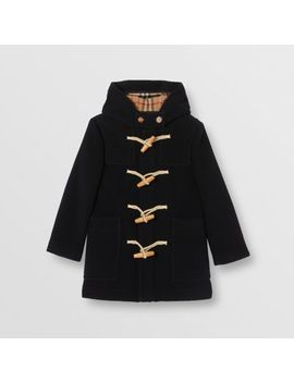 Boiled Wool Duffle Coat by Burberry