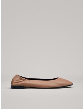 Roze Ballerina's Met Elastiek Hiel by Massimo Dutti