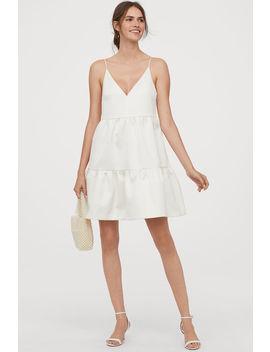 Vestido De Noiva Pelo Joelho by H&M