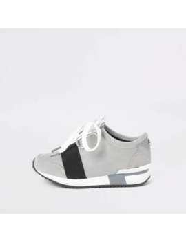 Mini Girls Grey Runner Trainers by River Island