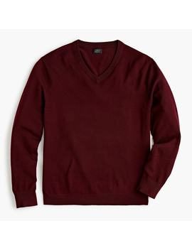 Washable Merino Wool V Neck Sweater by J.Crew
