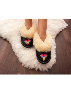 Sheepskin Slippers Women Slippers Leather Slippers Shearling Moccasin Natural Slippers Sheep Wool Warm Boots Valenki Winter Slippers Gift by Etsy
