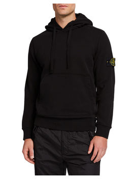Men's Classic Fleece Pullover Hoodie by Stone Island