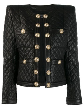Quilted Leather Jacket by Balmain