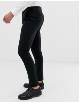 Asos Design   Pantalon Habillé Super Ajusté   Noir by Asos Design