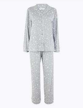 Cool Comfort™ Cotton Modal Star Pyjama Set by Marks & Spencer