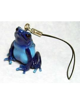 Kitan Club Ikimon Natural Techni Color Blue Poison Arrow Dart Frog Strap New by Ebay Seller