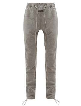 Denim Drawcord Cotton Blend Trackpants by Fear Of God