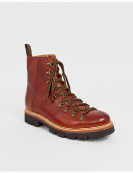 Grenson Brady Hiker Boots In Tan Leather by Grenson