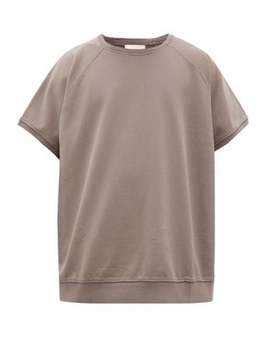 Logo Plaque Loop Back Cotton Jersey T Shirt by Fear Of God