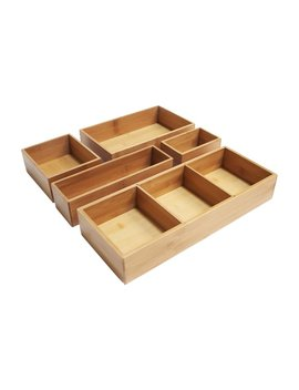 Dylan Bamboo 5 Piece Drawer Organizer Set by Project Tidy