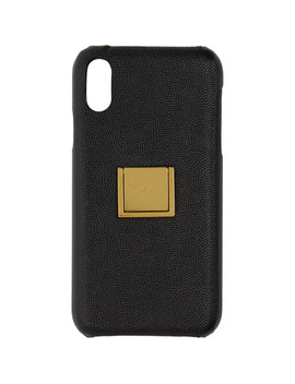 Black Leather Ring I Phone Xr Case by Saint Laurent