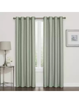Darcy 95 Inch 100% Blackout Grommet Top Window Curtain Panel In White by Bed Bath And Beyond