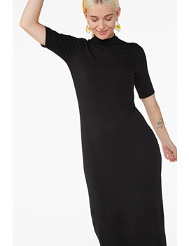 Ribbed Fitted Dress by Monki