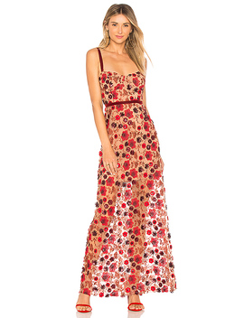 Beatrice Strappy Maxi Dress In Bouquet by For Love & Lemons