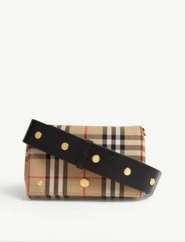 Huckleberry Vintage Check Cross Body Bag by Burberry