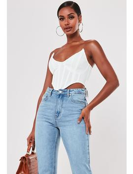 White High Bust Point Corset Bralette by Missguided