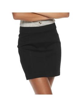 Juniors' Mudd® Seamed Bodycon Denim Skirt by Juniors' Mudd
