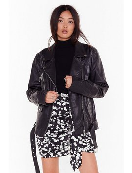 Ride For Me Oversized Leather Jacket by Nasty Gal