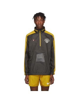 Grey & Yellow Gyakusou Half Zip Jacket by Nike