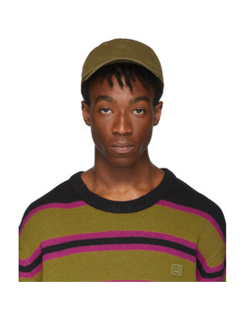 Green Cunov Face Cap by Acne Studios