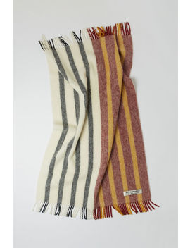 Colour Block Striped Blanket  Burgundy Multi by Acne Studios