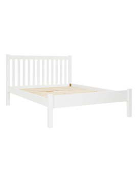 John Lewis & Partners Wilton Bed Frame, Double, White by John Lewis & Partners