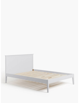 John Lewis & Partners Albany Bed Frame, Double, Grey by John Lewis & Partners