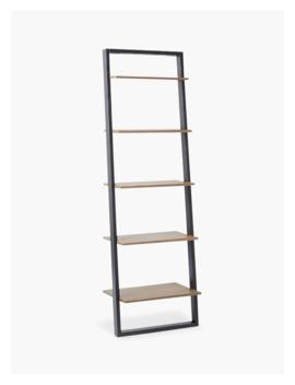 West Elm Wide Ladder Shelving Unit, Sandstone/Shale by West Elm