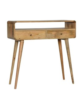 Abel Solid Wood Console Table by Fjørde & Co