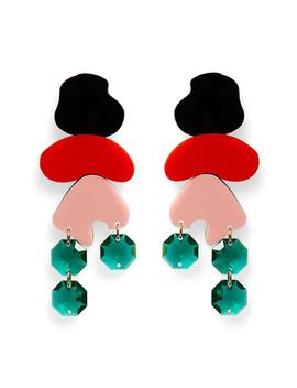Pop Rock Earrings Red/Black by Melogy Ehsani