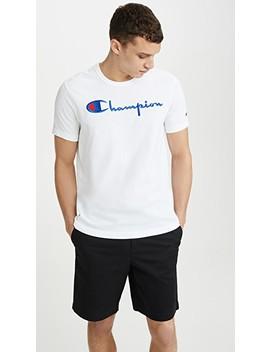 Футболка с логотипом в виде крупной надписи by двусторонняя ткань Champion Premium