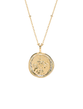 Compass Coin Necklace In Gold by Gorjana