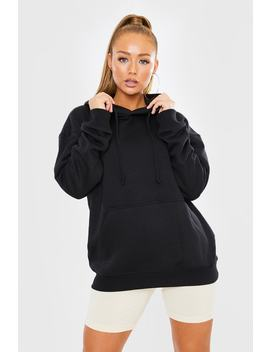 Black Oversized Hoodie by In The Style