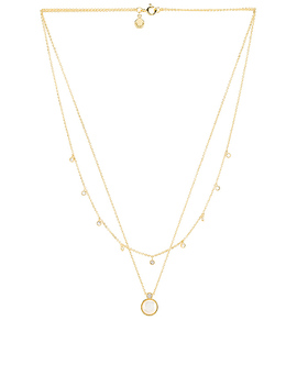 Eloise Gem Layered Necklace In Mother Of Pearl & Gold by Gorjana