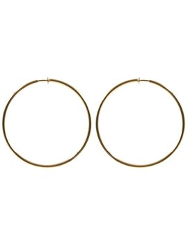 Classic Gold Clip On Hoop Earrings  Available In 3 Sizes by Melogy Ehsani