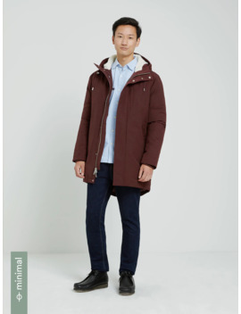 The Alpine Parka In Wine by Frank & Oak