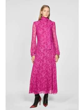 Lace Dress With Bow by Zara