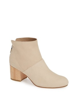 Suri Suede Block Heel Boot by Eileen Fisher