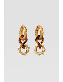 Limited Edition Faux Pearl Hoop Earrings by Zara