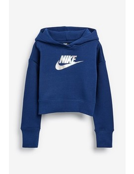 Nike Metallic Shine Cropped Hoody by Next