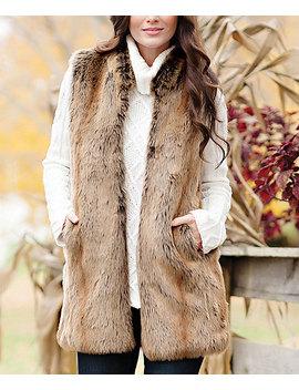 Brown Faux Coyote Fur Vest   Women & Plus by Donna Salyers' Fabulous Faux Furs
