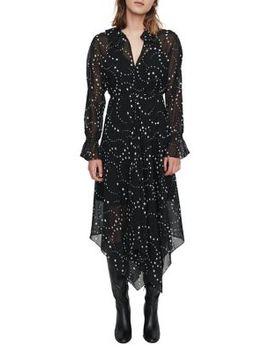 Retro Star Print Midi Scarf Dress by Maje