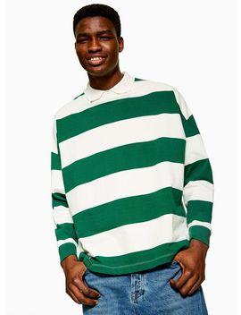 Green Stripe Rugby Shirt by Topman