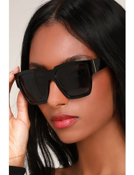 Paparazzi Black Oversized Sunglasses by Lulus